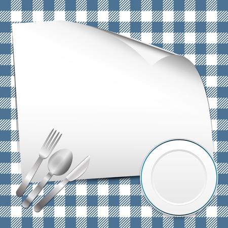 gastronomic: Blue restaurant background with place for text