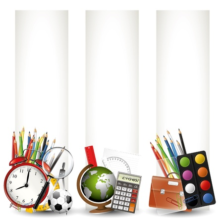 Modern colorful school banners  Vector