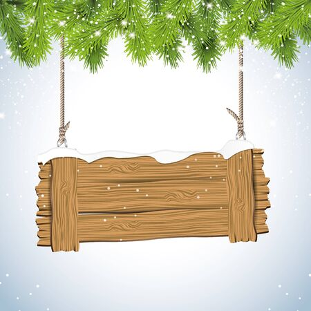 traditional events: Christmas background with wooden sign