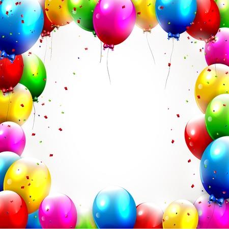 globos de cumpleaños: Fondo colorido cumpleaños