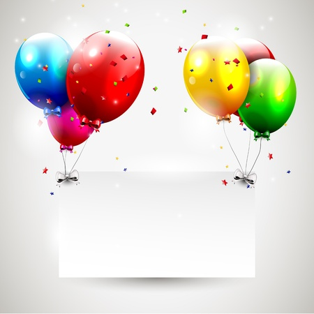 Modern birthday background with place for text Stock Vector - 16877269