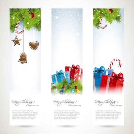 Set of three Christmas banners  Vector