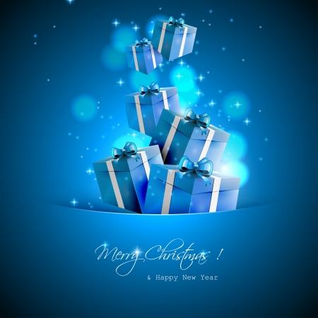 gifts: Kerstcadeaus - vector achtergrond Stock Illustratie