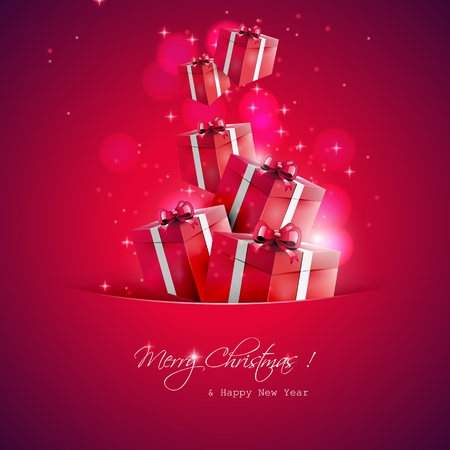 Christmas gifts - vector background  Stock Vector - 17506803