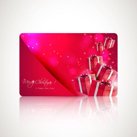 Modern red gift card  Stock Vector - 17506815
