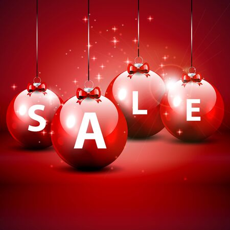 clearance sale: Christmas sale red background