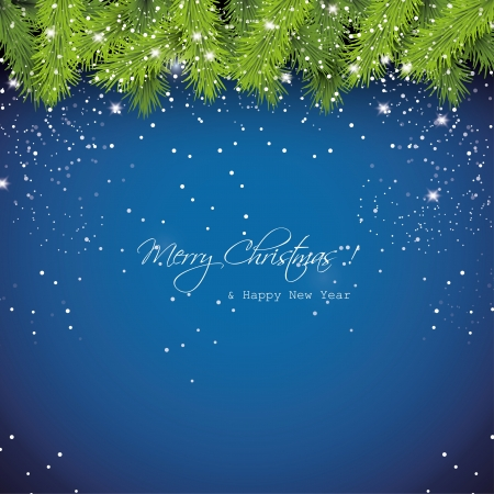 Christmas blue snowy background Stock Vector - 20219331