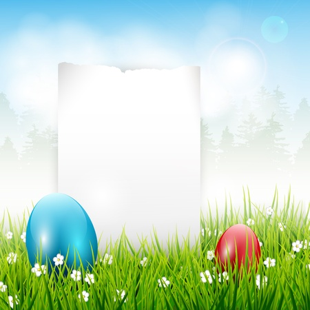 Easter background with place for text Stock Vector - 17544736