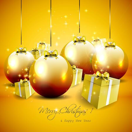 Luxury gold Christmas background Stock Vector - 17544742