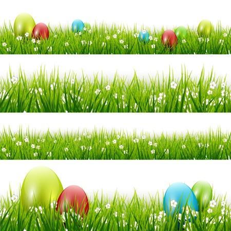 Grass with eggs - vector set Stock Vector - 17544764