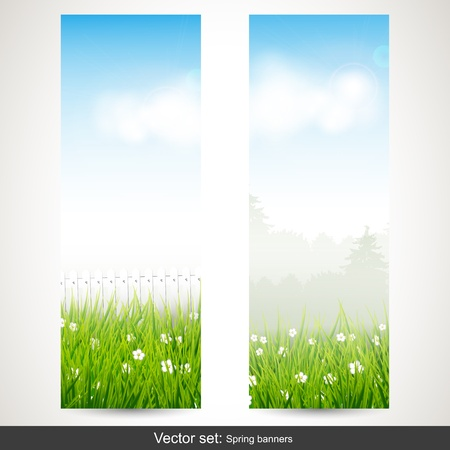 Spring vertical banners - vector set Stock Vector - 17544737