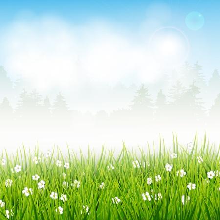 Spring vector landscape Stock Vector - 17544750