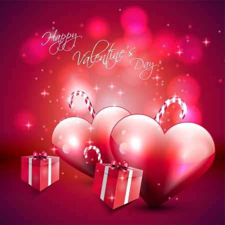 Valentine s Day pink background  Vector