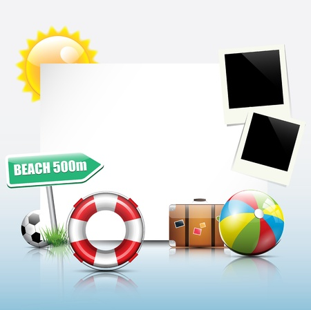 Summer holiday background Stock Vector - 17676033