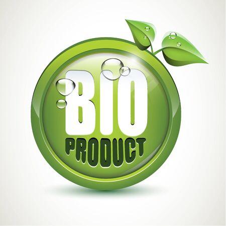 Bio product - glossy icon Stock Vector - 17676086