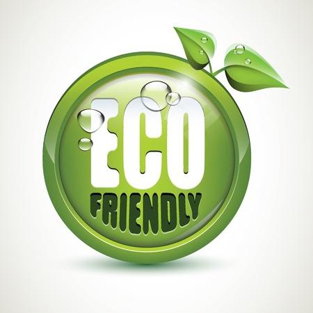 eco friendly: ECO friendly - glossy icon