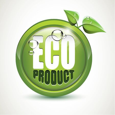 Eco product - glossy icon Stock Vector - 17676078