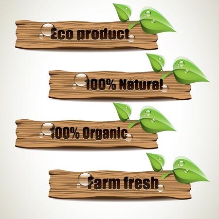 pancarte bois: Bois signes Eco