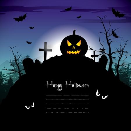 scare: Halloween Background Illustration