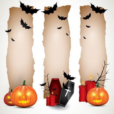Halloween banners Stock Vector - 17676037