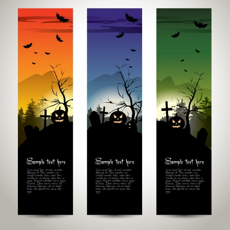 Halloween vertical banners Vector