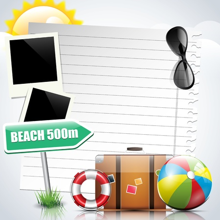 Summer holiday background Stock Vector - 17676022