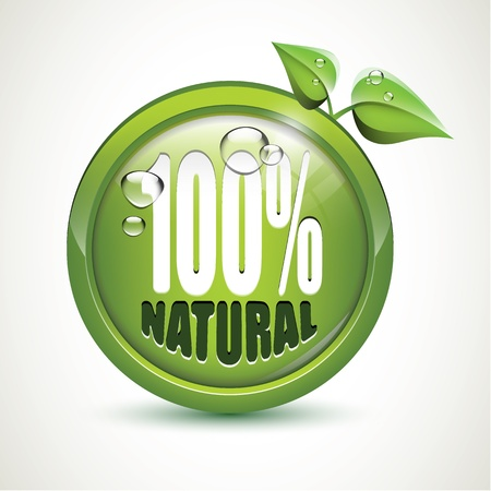 100  Natural - glossy icon Vector
