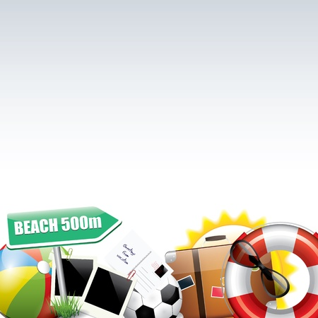 beach bag: Summer background