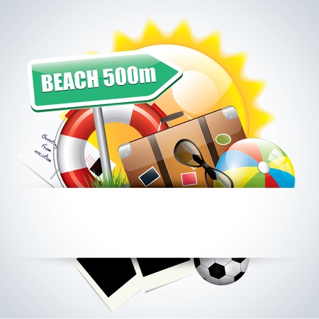 Summer glossy poster Stock Vector - 17676067
