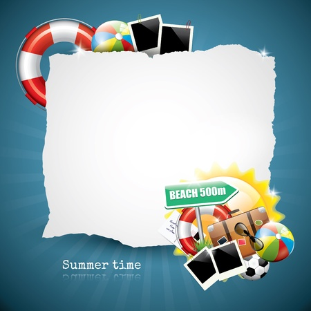 beach bag: Summer glossy background with place for your text