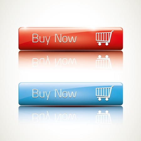 buy button: Buy now - realistic glossy icon