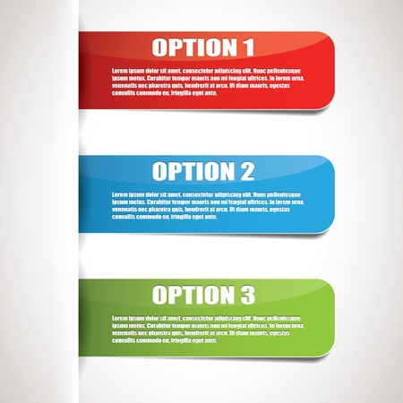 Set of three color options Stock Vector - 17676107