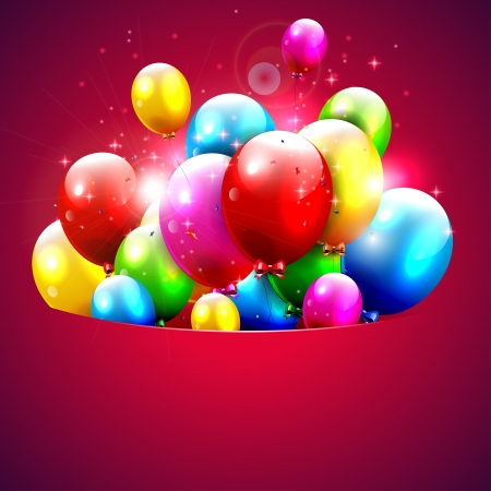 Colorful balloons flying out of pocket  Stock Vector - 17960777