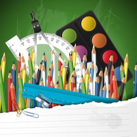 protractor: school background