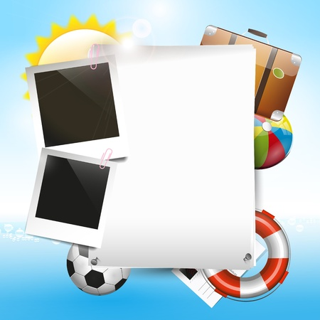 photoframe: Summer vacation - background with copyspace