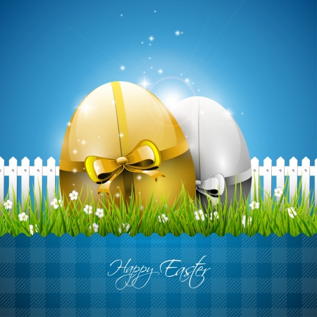 easter card: Blue Easter background Illustration