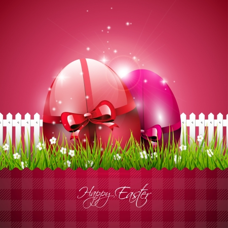 Red Easter background Vector