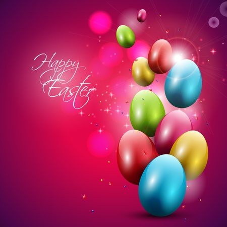 Modern Easter background Vector