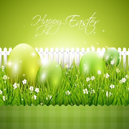 Modern green Easter background Vector