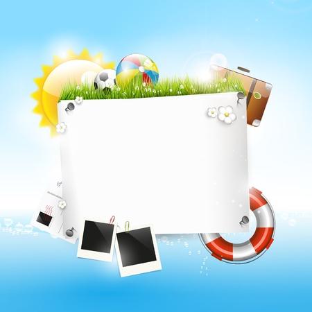 Sommerurlaub - Hintergrund mit copyspace