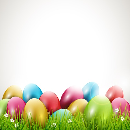 colored egg: Modern Easter background with place for text
