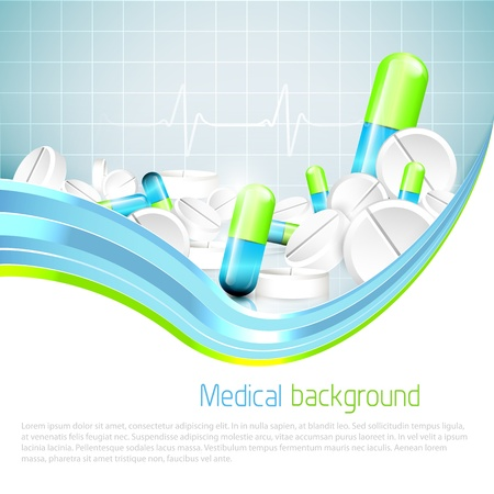 Medical background with copyspace Stock Vector - 18587176