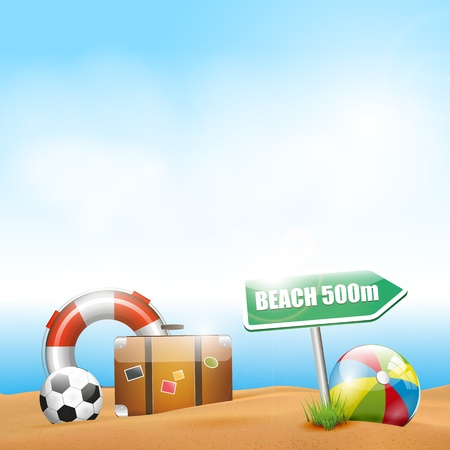 summer time: Summer holiday - background with copyspace Illustration