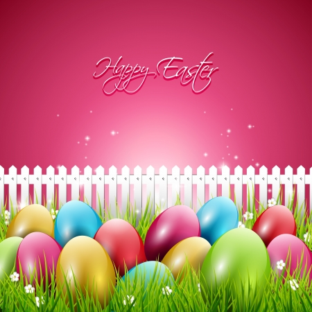 Colorful Easter background Stock Vector - 20219335