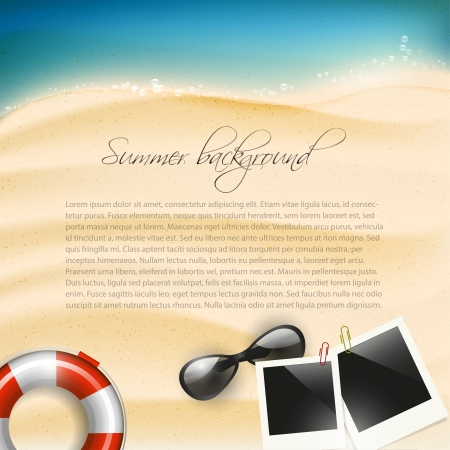 summer fun: Summer holiday background with copyspace
