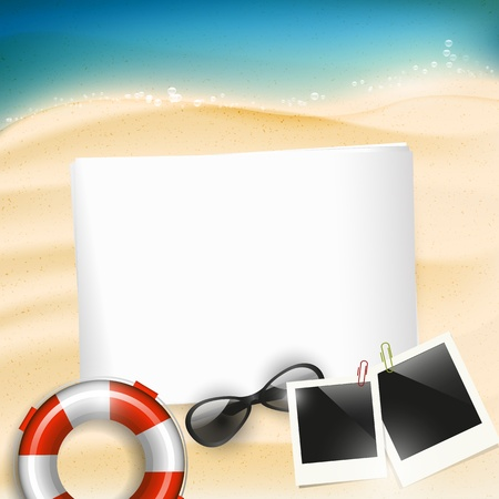 hawaii beach: Summer holiday background with copyspace