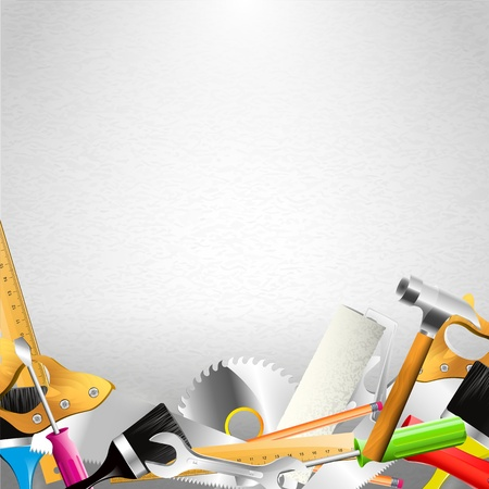 Carpentry background with copyspace