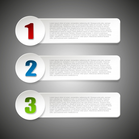 version: Set of three paper options Illustration