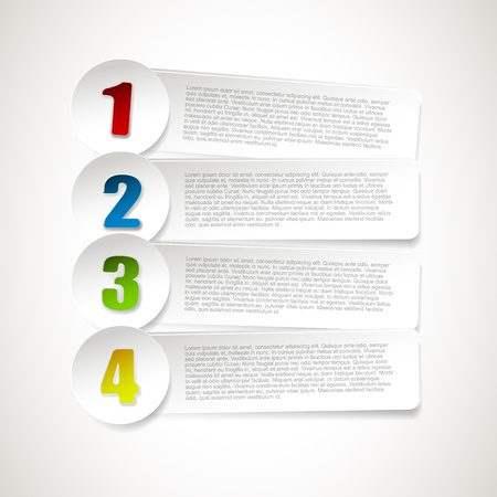 Set of four paper options Stock Vector - 20182652