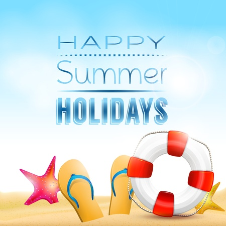 Happy summer holidays - creative background Stock Vector - 20182659